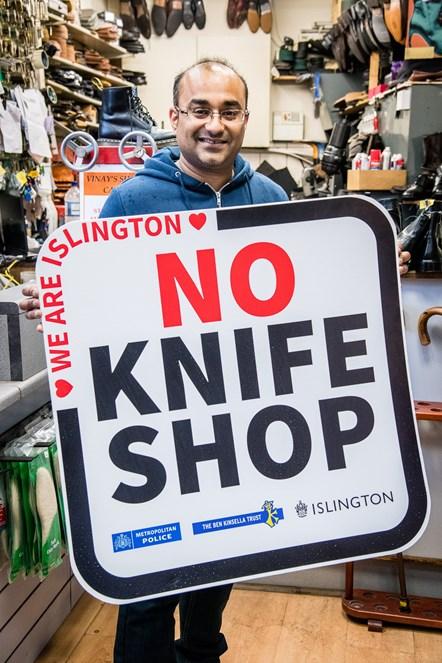 Islington No Knife Shop 5: Vinay Chohan, owner of Vinay's Shoe Care