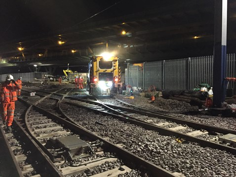 Network Rail carried out Easter work on the network to allow Tram Trains to run in the future 2