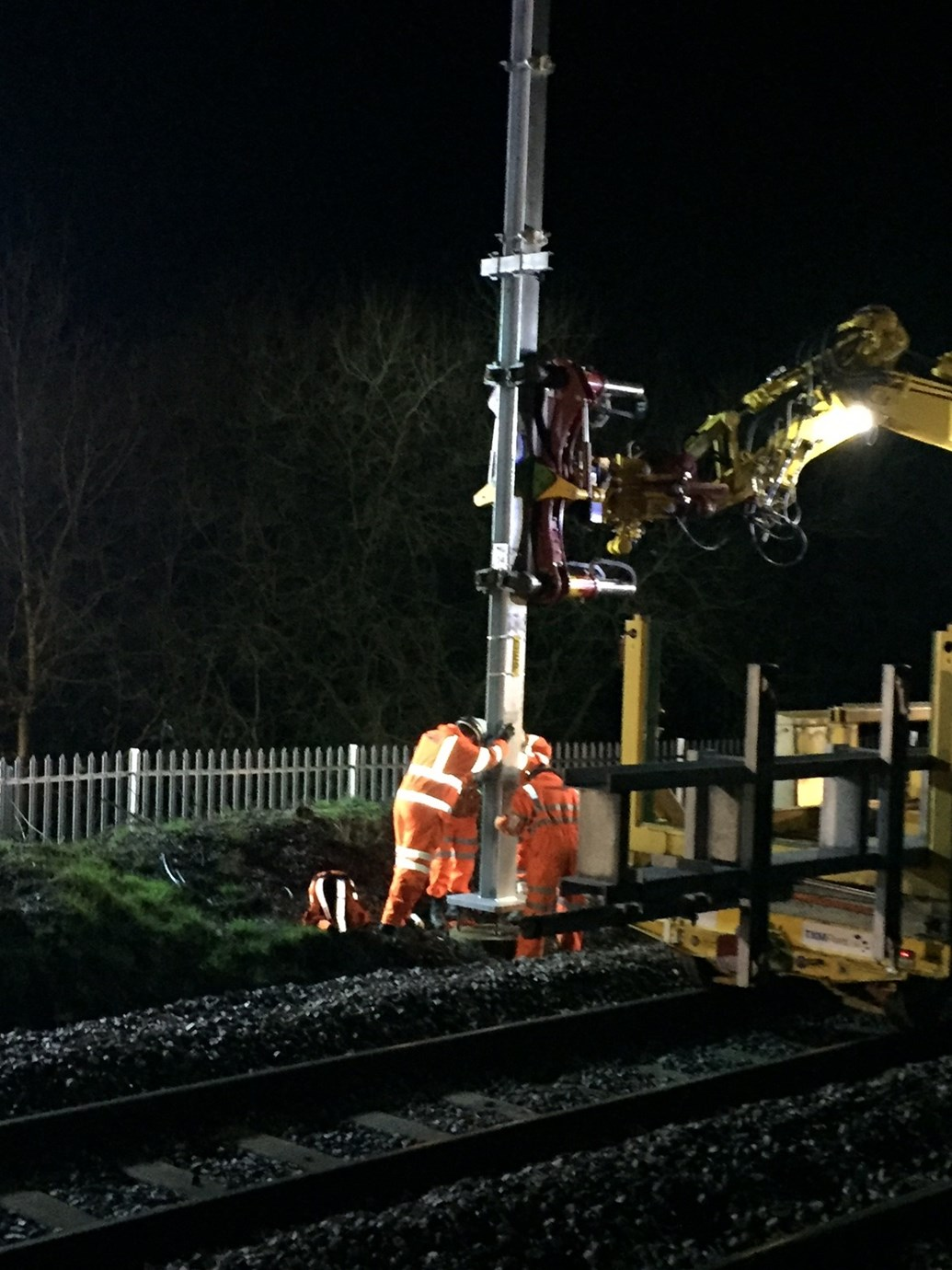 Residents invited to drop-in event to find out more about upgrades to Preston-Manchester line: Stanchions being put up for electrification of Preston-Manchester line