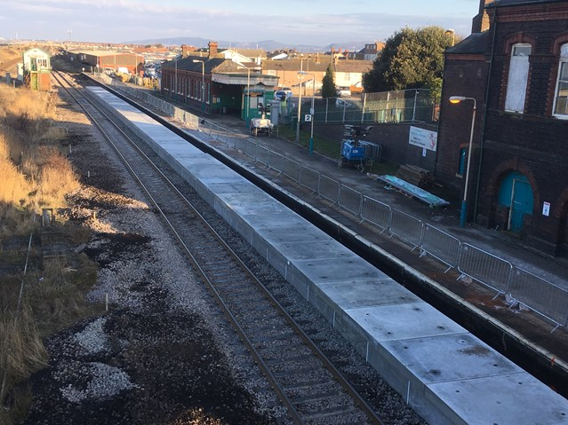 £50m North Wales Railway Upgrade Project underway: Upgrade work at Abergele and Pensarn station including a platform extension is ongoing