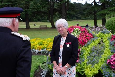 Lord-Lieutenant of Moray, Major General Seymour Monro and Mary Nelson BEM