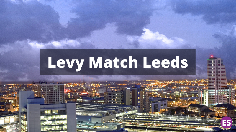 Launch of the 'Levy Match Leeds' service to boost apprenticeship numbers in Leeds: Levy Match Leeds banner