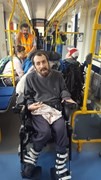 Burton Street Foundation 1: Members of the Burton Street Foundation enjoy a 'Try a Tram' Day at Meadowhall Interchange