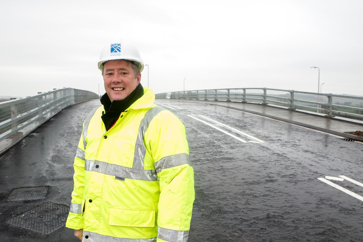 Transport Minister Keith Brown, A77 Symington to Bogend Toll Improvements
