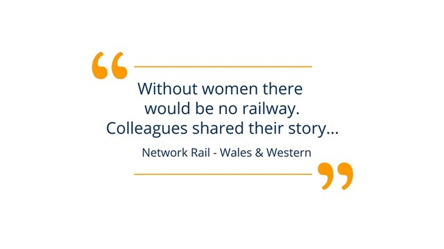 Without women, there would be no railway - International Women's Day 2021: IWD 2021 Quote image