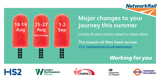 Euston closure reminder: Do not travel on West Coast main line this weekend: London Euston closures