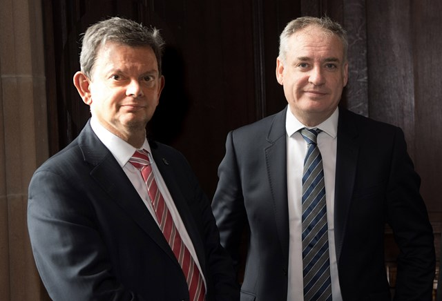 Prof Anton Muscatelli and Richard Lochhead