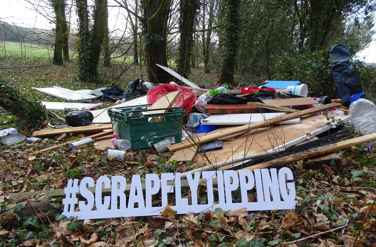 scrap fly tipping sign