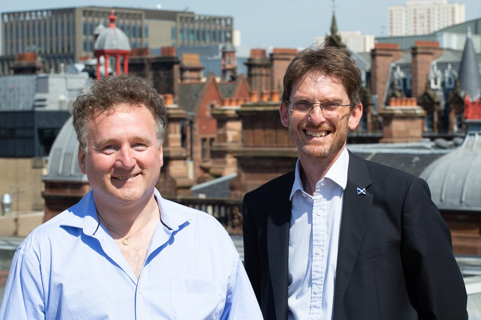 Silicon Valley Consultancy to Create High-Value Tech Jobs in Glasgow: (l-R) Transiris CEO Silvian Centiu and SDI MD Paul Lewis