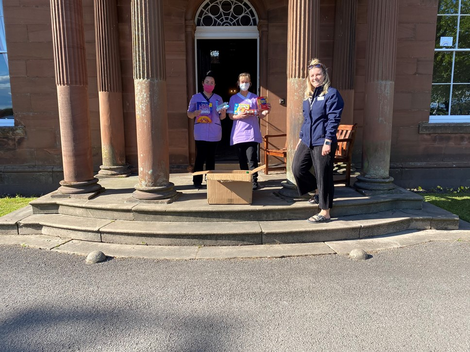 Avanti West Coast employees deliver goods to care homes during COVID-19 crisis: Rosehill Residential Home