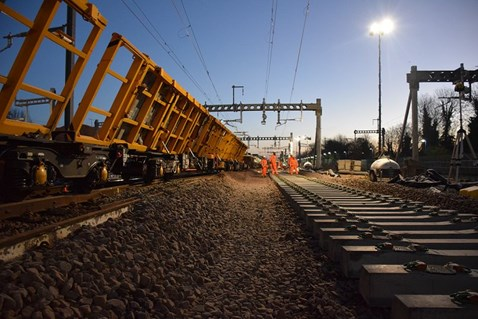Countdown to Christmas: two weeks to go until Network Rail's major upgrade work begins: Track renewal work