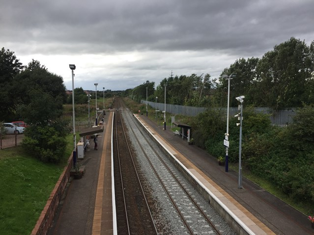 Network Rail awards £11.6m Shotts Line electrification contract: Carfin station platforms