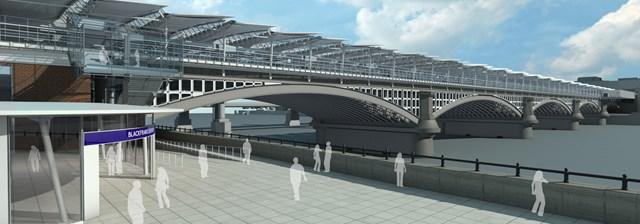 Blackfriars Bridge and South Bank entrance