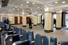 Newly reopened London Underground entrance at Farringdon