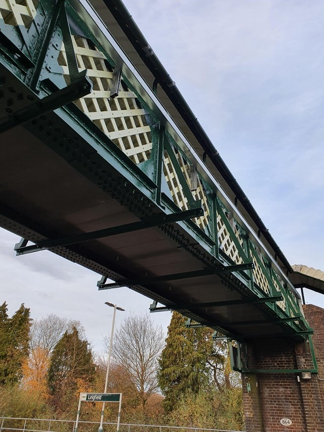 Lingfield station footbridge