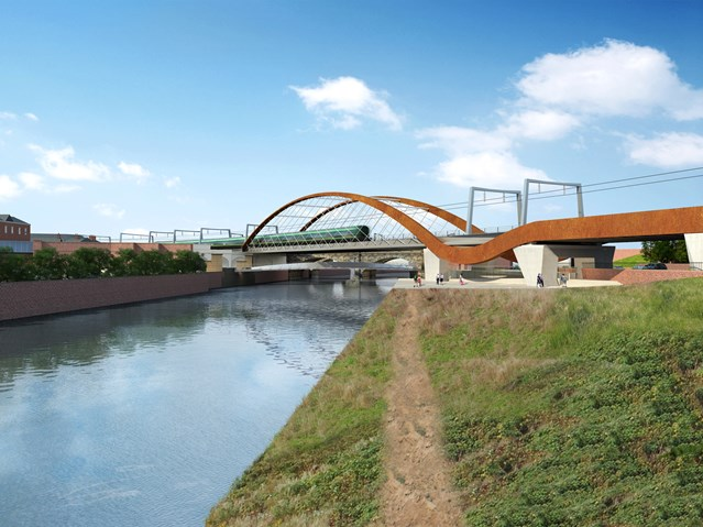 Section of Trinity Way to temporarily close during bridge work: Ordsall Chord - Manchester - 2