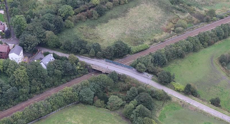 Passengers and road users to benefit from railway upgrades in Atherton: Shakerley-Lane-aerial