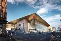 Queen Street Redevelopment Gets Ministers' Go Ahead: Queen St station artist impression