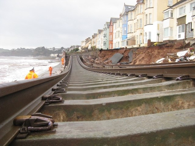 World leading engineers on site as Network Rail works to safeguard vital route to the South West: Dawlish - the original breach