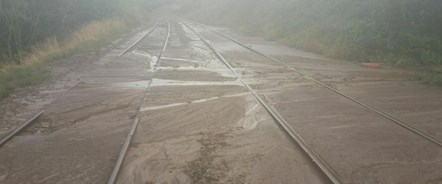Railway reopens following mudslide at Bentham: Bentham Mudslide