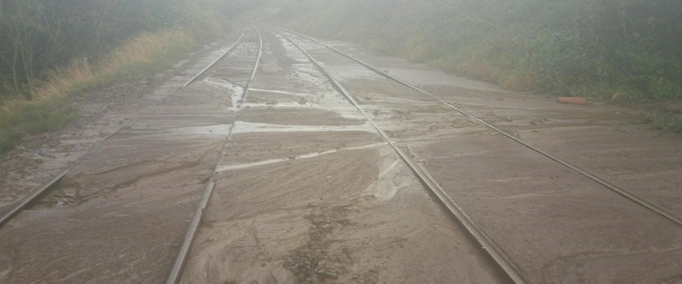 Severe disruption to Northern services after mudslide between Lancaster and Skipton: Bentham Mudslide