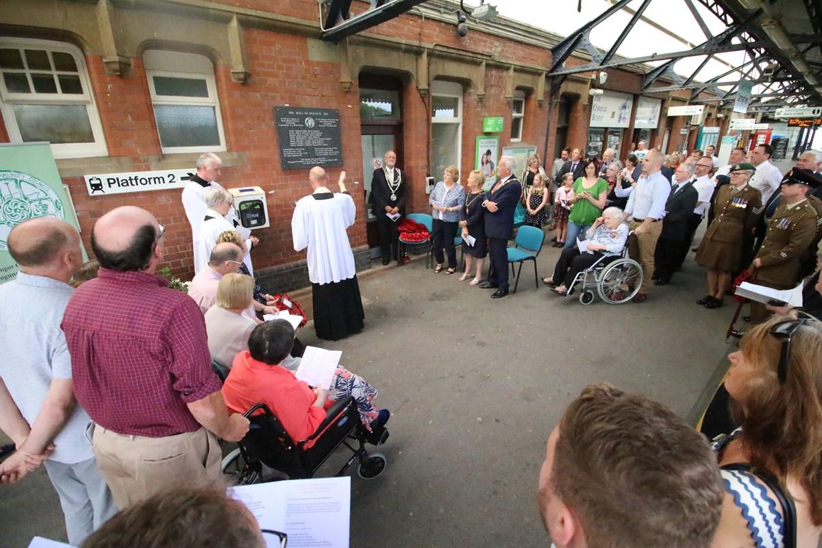 Carmarthen station plaque unveiling ceremony