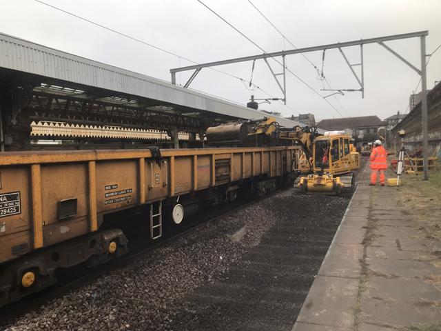 Upton Park track works 2
