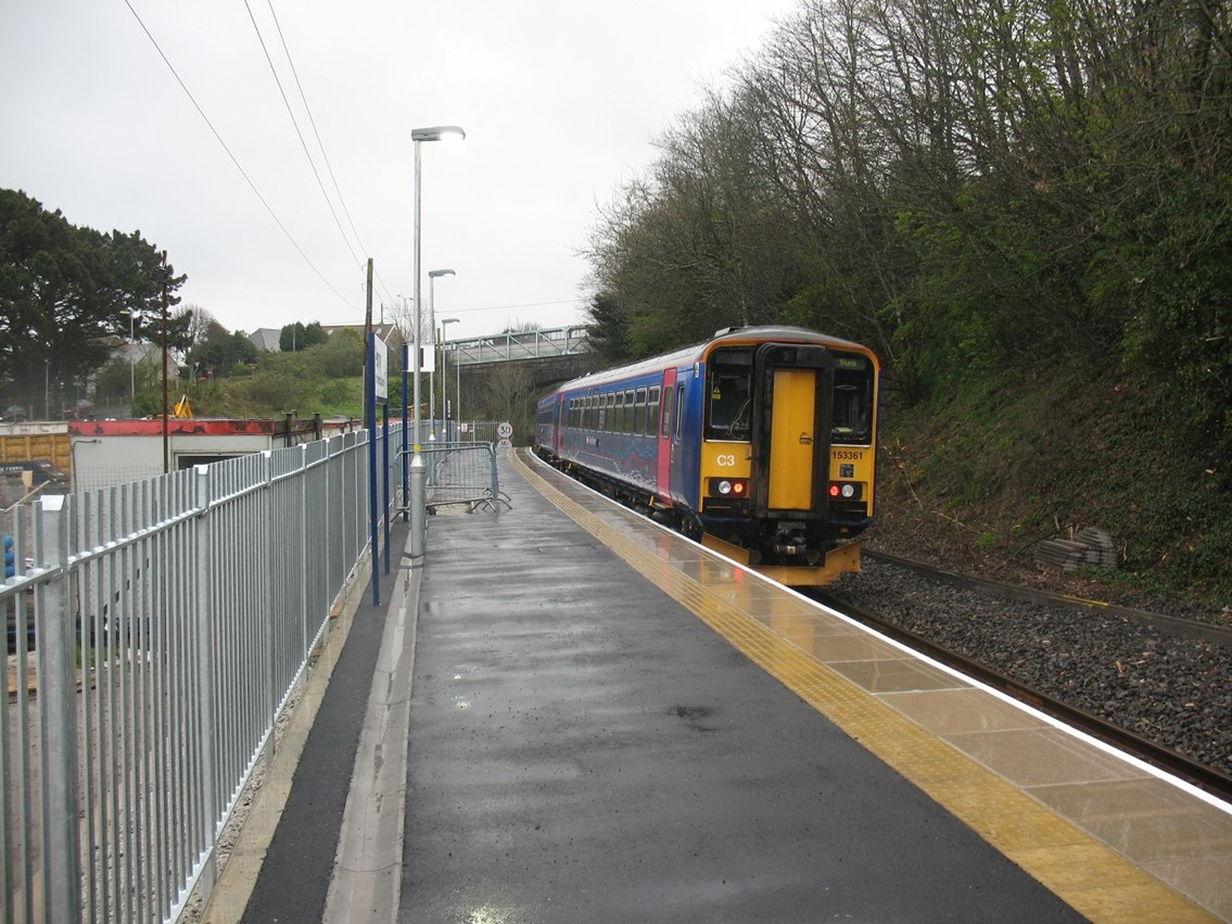 Extended platform at Penryn: Falmouth