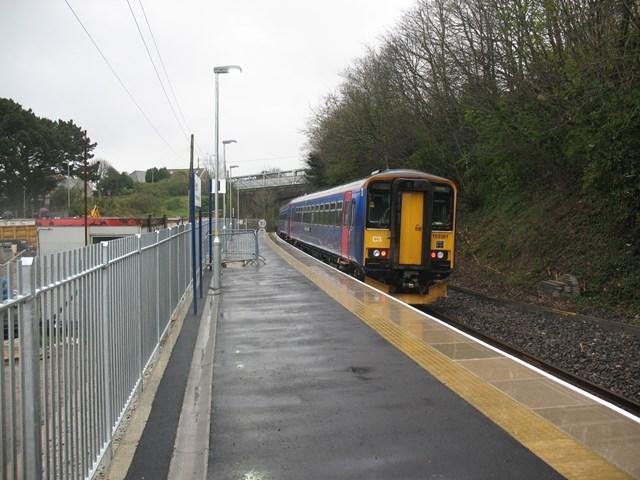 Extended platform at Penryn