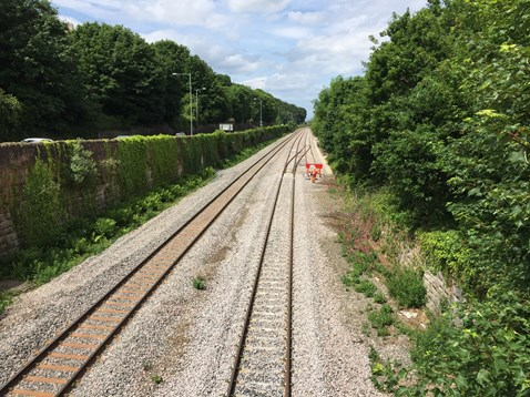 Mostyn track upgrade work completed during spring as part of the North Wales Railway Upgrade Project.