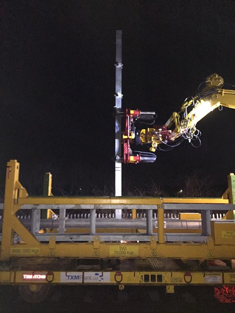 Electrification work between Manchester and Preston