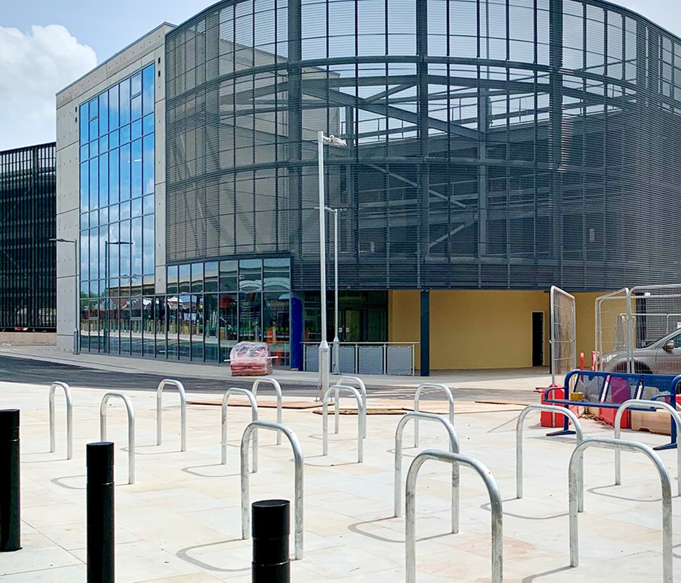 Taunton cycle parking and MSCP entrance