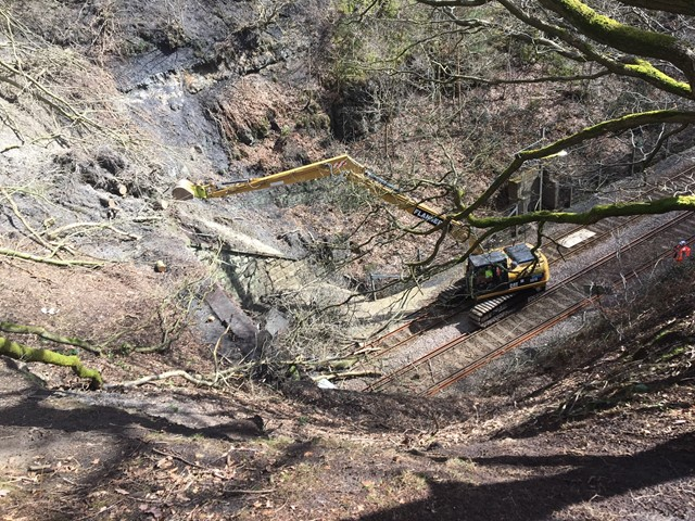Leeds to Ilkley line to undergo repairs after landslip closes tunnel: Repairs underway at Springs Tunnel