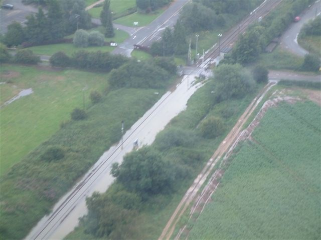 Cotswold Line Flooding: Flooding at Campden