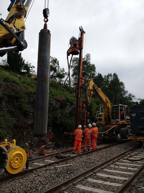 Specialist piling equipment - Chorley area