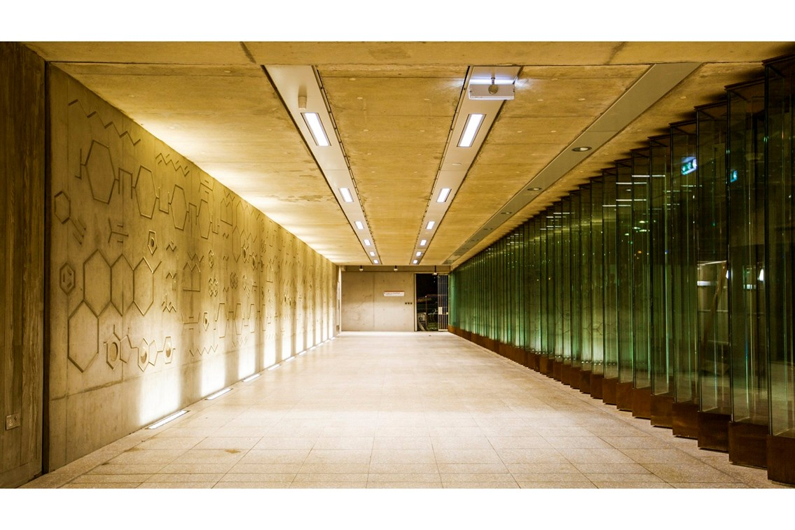 Hackney Wick station wins prestigious design award: Hackney Wick walkway underpass