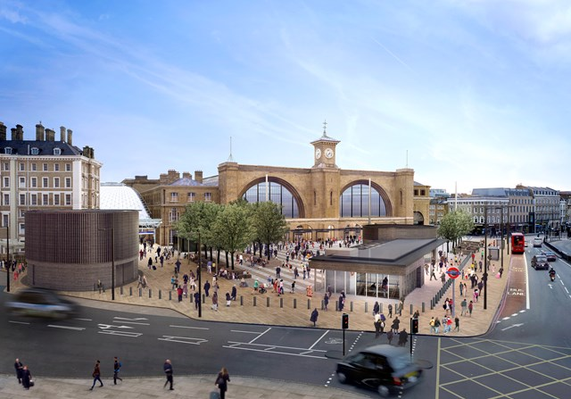 KING'S CROSS PUBLIC SQUARE PLANS GIVEN THE GO-AHEAD: Proposed King's Cross square