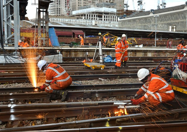 Network Rail unveils multi-billion pound plan for the railway route from Waterloo station to the south coast: Waterloo, August 2017 - 5 August (6)