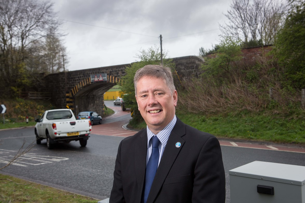 Keith Brown Inveramsay Bridge visit - Ground Investigations advance works