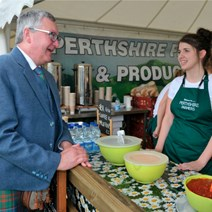 Food and drink theme for second round of Scottish Clan Event Fund: Tourism Minister Fergus Ewing announces funding.<br />Images by Ian Rutherford.