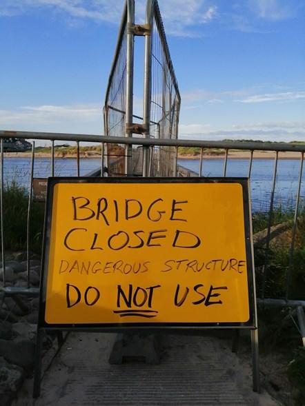 Lossie bridge old sign