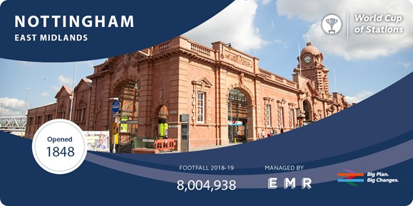 Four EMR stations make shortlist in public vote to find Britain's favourite railway station: Nottingham
