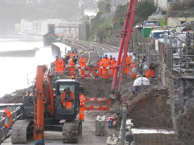 Dawlish drop-in session provides insight into plans to protect vital railway artery to the South West: SWRRP image