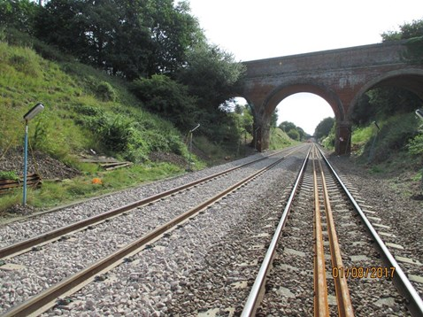New track and Ballast between Ipswich and Halesworth