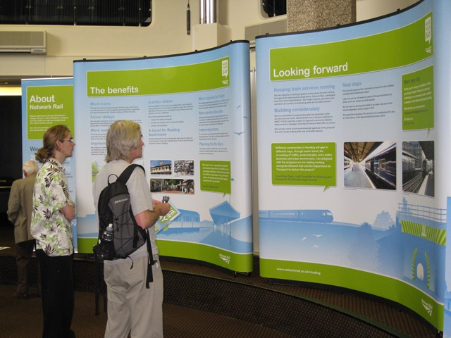 Public have their say at the exhibition: Improving the railway in Reading