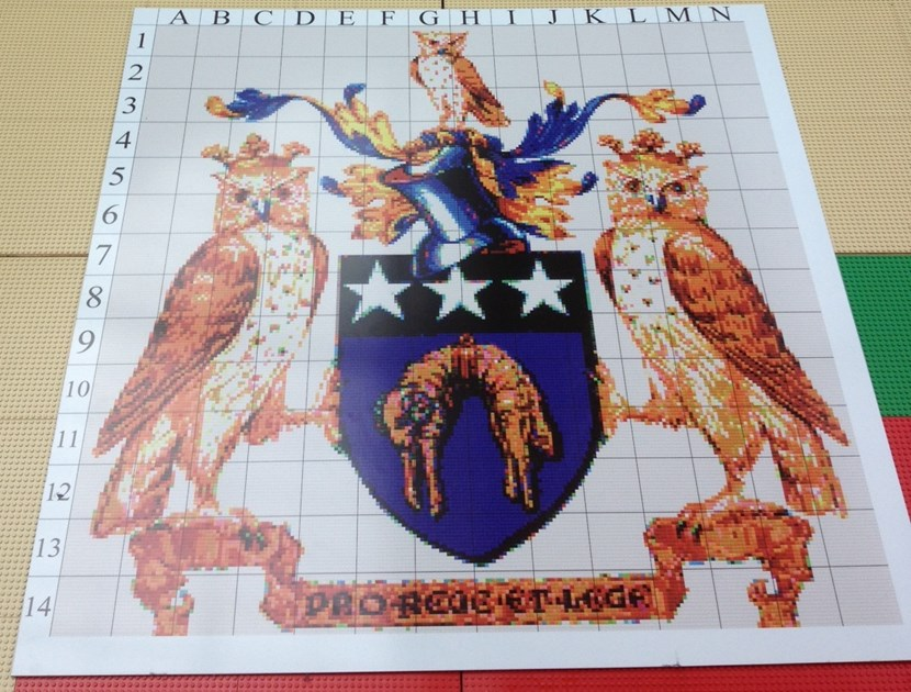 Support the Lord Mayor's Lego crest fundraising challenge at the Merrion Centre: lordmayorvisual3.jpg
