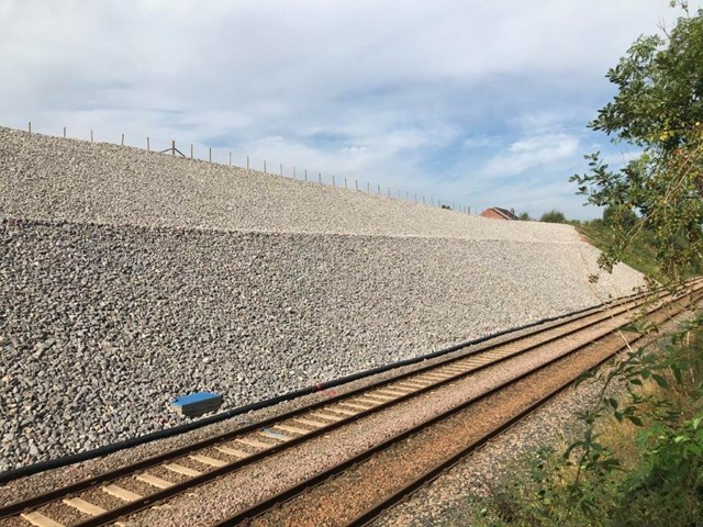 Cumwhinton cutting complete from track level