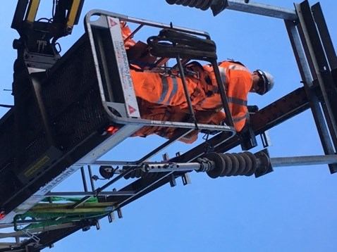 Overhead wire works at Forest Gate 2