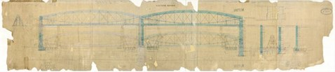 Original blueprint of the Royal Albert bridge by Brunel