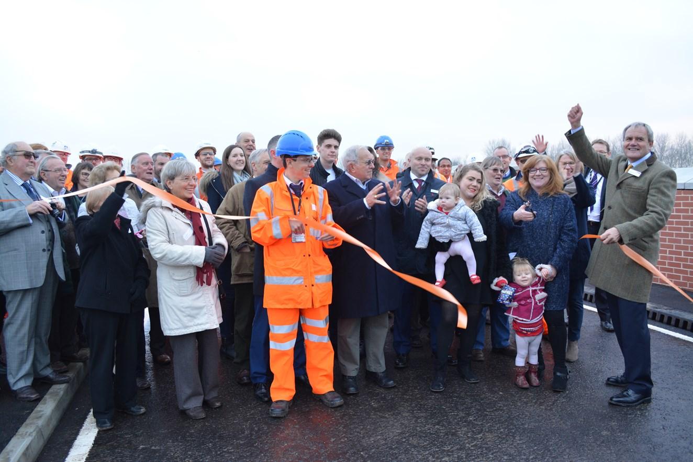 Safer railway crossing for motorists as new bridge opens at Ufton Nervet: Ufton Nervet railway bridge was officially opened on December 16